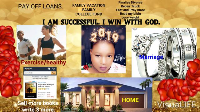 Marva's vision board